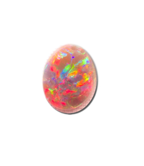 loose black opal 4.47 Carats, 16.4mm x 12.4mm