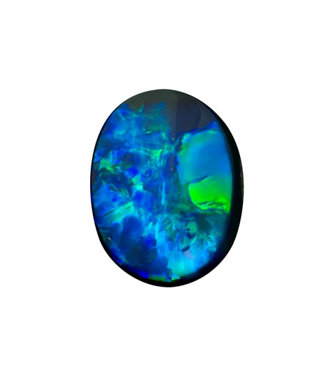 loose black opal 1.66CTS, 9.8 X 7.3MM