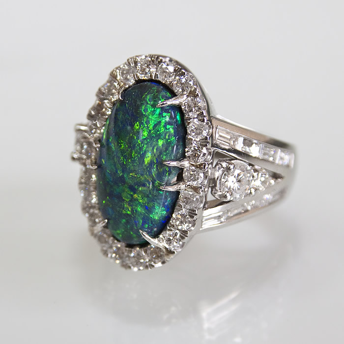 Platinum Black Opal and Diamond ring 2014 Platinum Honor's Sectrum Award style